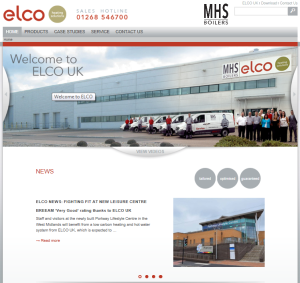 Screen shot of ELCO's new website